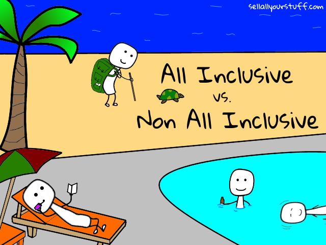 all inclusive vs. non all inclusive with sellallyourstuff.com